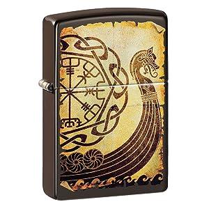 mazzi, mazzi pirate, zippo, windproof, lighter, brass, brass lighter, pirates, pirate lighters