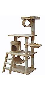 go pet club f67 cat tree condo furniture
