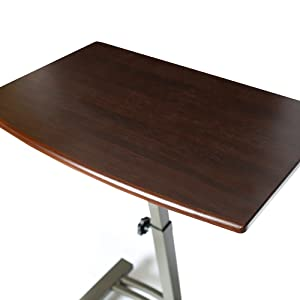 Sevilleclassics height adjustable sit stand standing desk table laptop computer mobile cart rolling