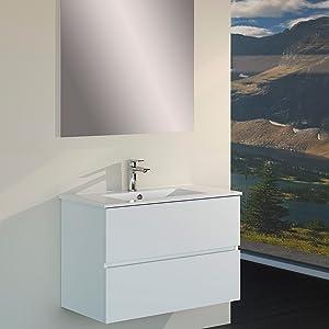 Baikal 830134003 Conjunto de Mueble de Baño suspendido a la pared ...