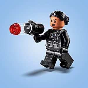 New LEGO Star Wars Black Blaster Minifig Weapon Gun Shooting x4 Light Blue Caps