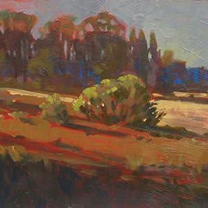 I prefer sunny mornings and foggy days to paint en plein air.
