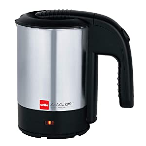 Buy Cello Quick Boil 700 Stainless Steel Electric Kettle 0 5 Litre Black Silver Online At Low Prices In India Amazon In