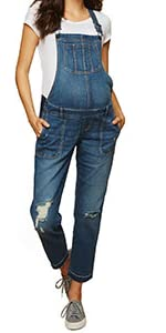 Maternity Side Panel Ankle Jeans Denim