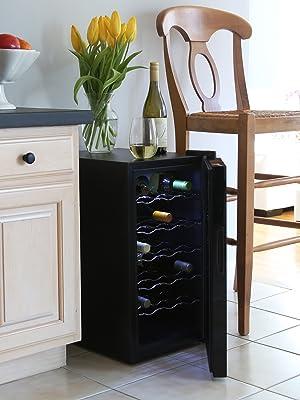 Ivation 18 bottle wine cooler lifestyle