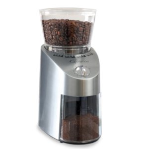 grinder, coffee grinder, capresso, coffee beans, stainless steel, conical, burr, safety, precision