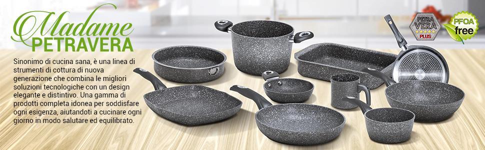 Sinonimo di cucina sana, è una linea di strumenti di cottura di nuova generazione.
