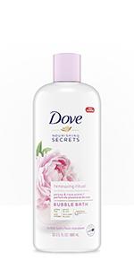 Dove Nourishing Secrets Bubble Bath revives and rejuvenates the body and mind