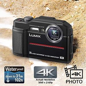 waterproof camera, black camera,