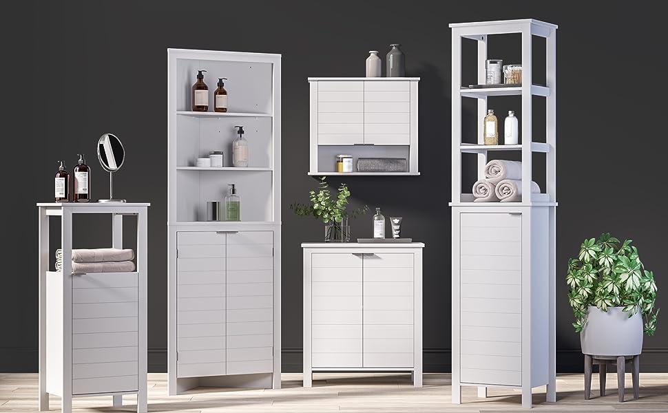 madison white bathroom collection