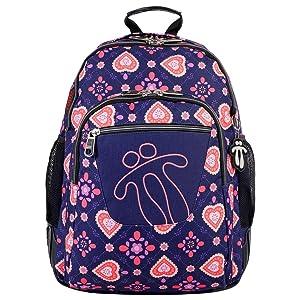 mochilas escolares niña, mochilas escolares corazones, mochila corazones