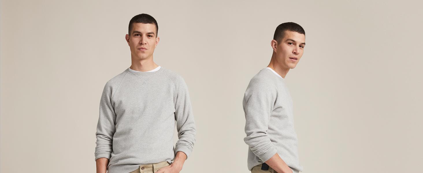 Jean Cut Khaki All Seasons Tech Slim Fit full model imagery