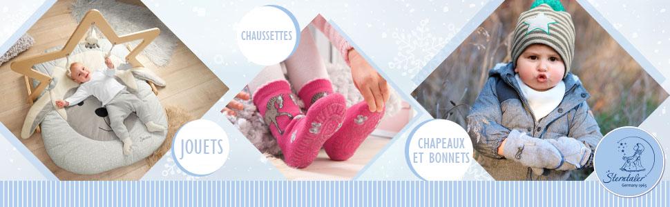 Sterntaler Barboteuse pour les Tout-Petits Taille : 90 Toute lann/ée Zip Gris Barboteuse Fonctionnelle Mouton Stanley
