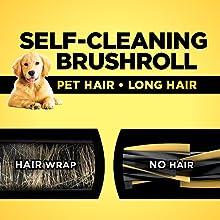pet hair vacuum, no hair wrap, self cleaning brushroll, pet vacuum, vacuum for pets