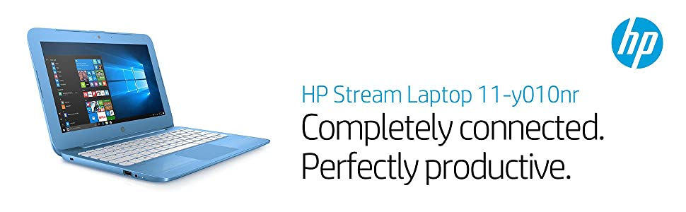 HP Stream Laptop PC 11-y010nr (Intel Celeron N3060, 4 GB RAM, 32 GB eMMC) with Office 365 Personal for one Year