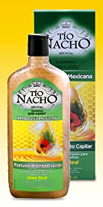 tío nacho, jalea real, fortalecimiento capilar, chile, shampoo, pelo, cabello, herbolaria, mexicana