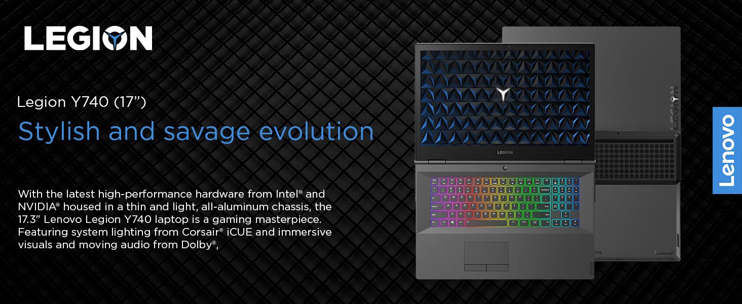Lenovo Legion Y740 Gaming Laptop, 17 3 Inch FHD (1920 X 1080) G-SYNC IPS  Display, Intel Core i7-8750H Processor, 16GB DDR4 RAM, 512GB NVMe SSD,  NVIDIA