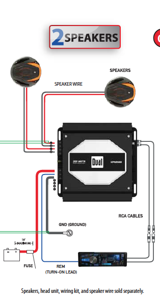 amazon com dual electronics xpa2500 2 1 high performance power rh amazon com