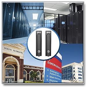 Tripp Lite Replacement Lock Rack Enclosure Server Cabinet 2 Keys SRHANDLE2 Version 2 Compatible with SmartRack Enclosures