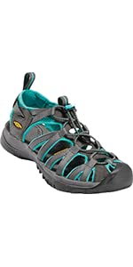 women's whisper closed toe back strap water sandal
