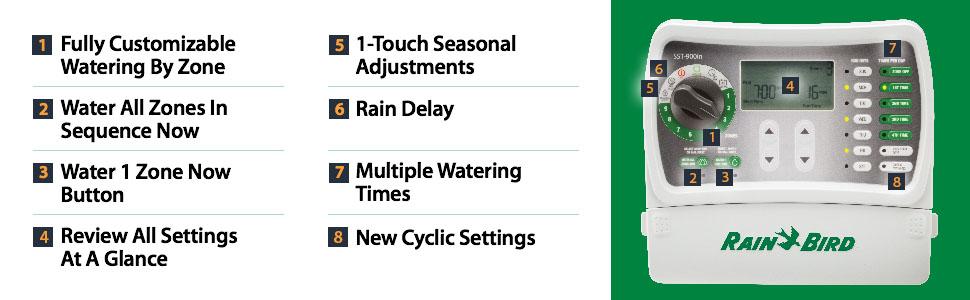 Rain Bird SST900IN Simple-to-Set Sprinkler System Controller Irrigation Rain Bird Sst Wiring Diagram on