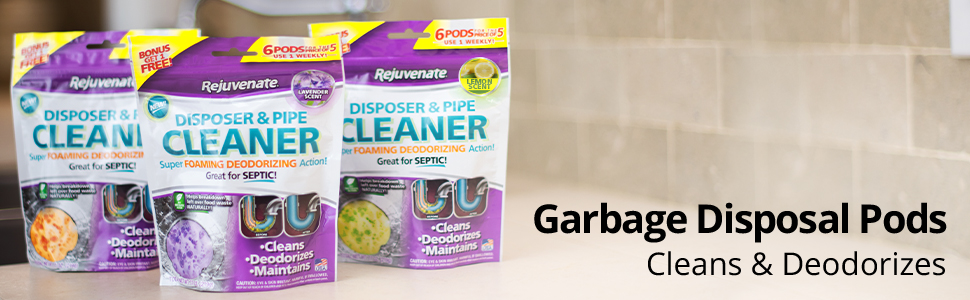 Garbage Disposal Cleaner, Pipe Cleaner, Odor Eliminator, Garbage Disposal Deodorizer