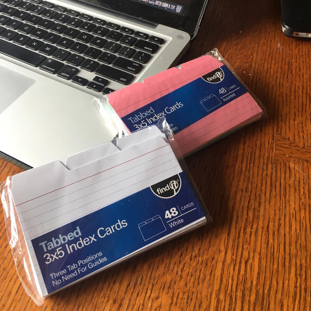 find it tabbed index cards
