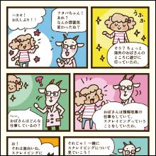 ヤギ博士とフタバちゃんのほのぼの漫画で章の概要を説明