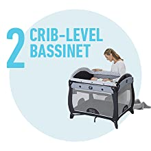 crib level bassinet