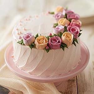 buttercream tulip, tulip cake, cupcake, dessert stand