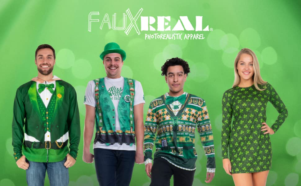 faux real, st. patty's, st. patrick's day, costume, t-shirt, hoodie, leggings, baby costume, patty's