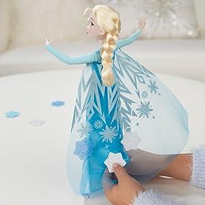Amazon.es: Disney Frozen - Muñeca Elsa Copos mágicos (Hasbro ...