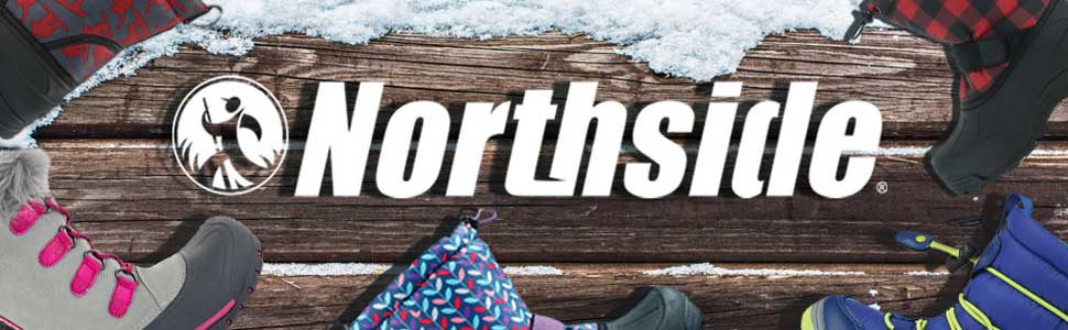 Northside kid's insulated winter snow boots easy on for boys girls toddler's