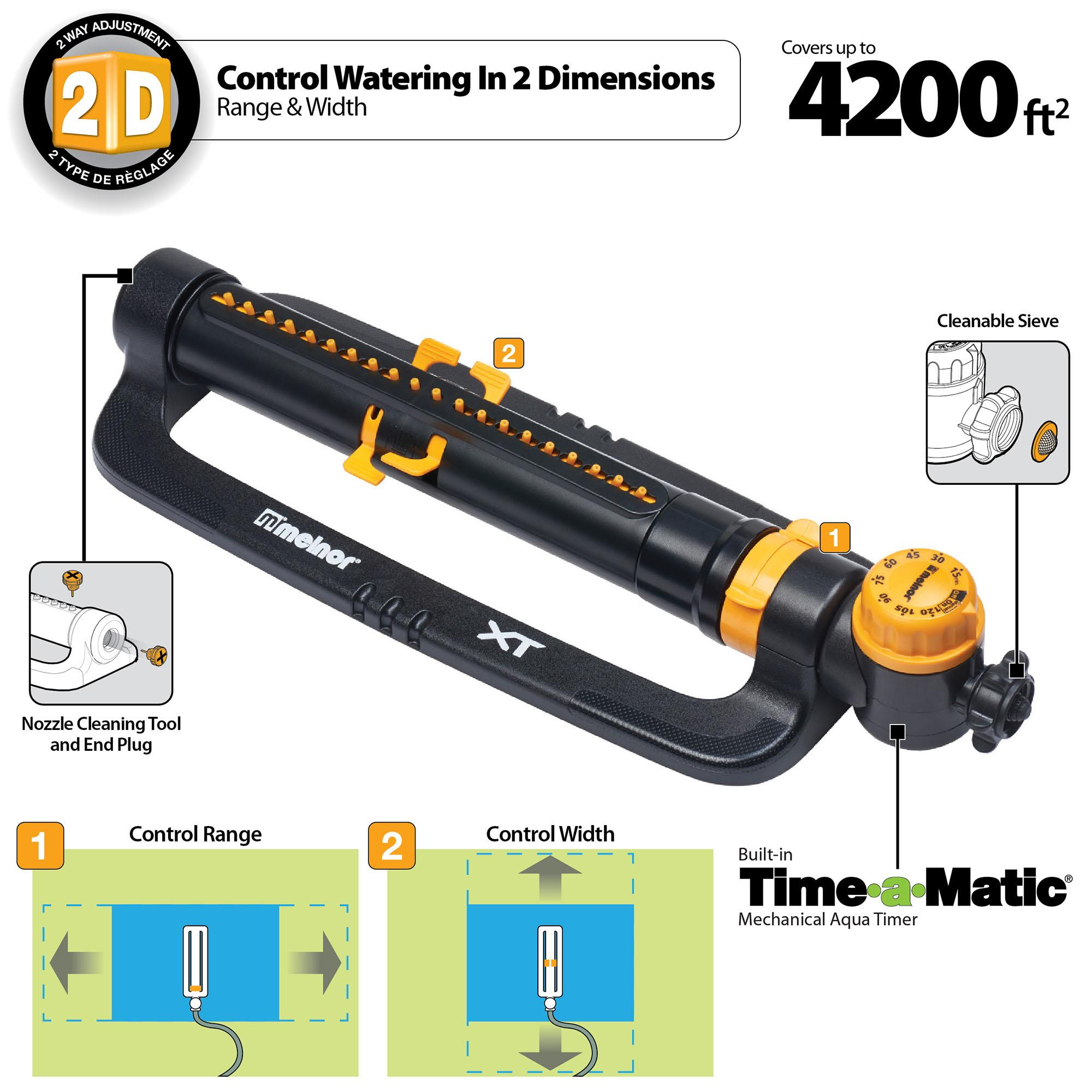 Precision Turbo Hours: Melnor XT Turbo Oscillating Sprinkler With One Touch Width