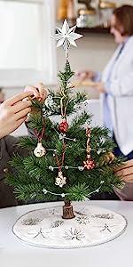 Miniature Christmas Tree Ornaments and Mini Tree