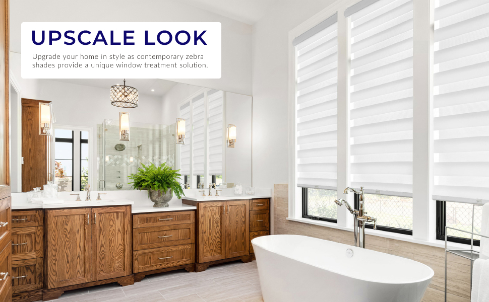Upgrade your home in style as contemporary zebra shades provide a unique window treatment solution