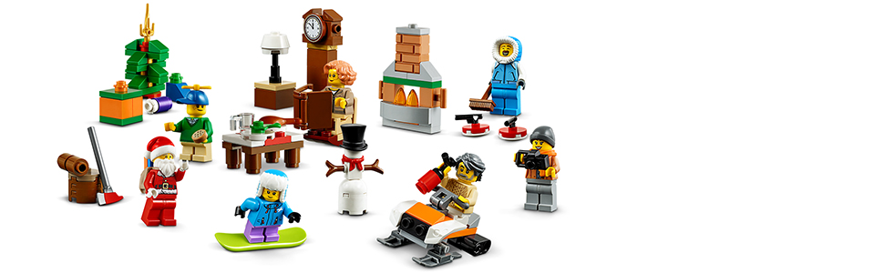 NEU Weihnachtsbaum aus Set 60235 LEGO City Nikolaus mit Rucksack Geschenken u