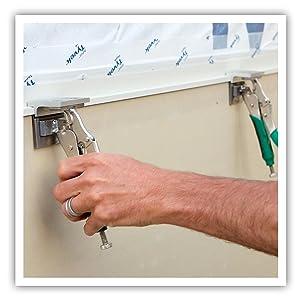 panel siding installation tool, siding tool, z-clamp, siding clamps, panel clamps, pactool