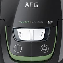 AEG VX8-4-ECO Aspirador con bolsa gama ecológica, ABAA, 750W, 58dB, con cepillos extra
