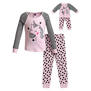 Pajamas, Dollie & Me, Matching Girl and Doll Outift