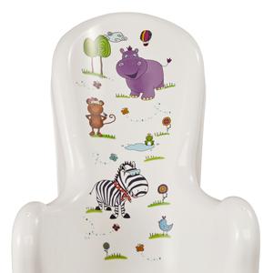 Okt - Sillon anatomico para bebes hasta 6 meses motivo Hippo, blanco
