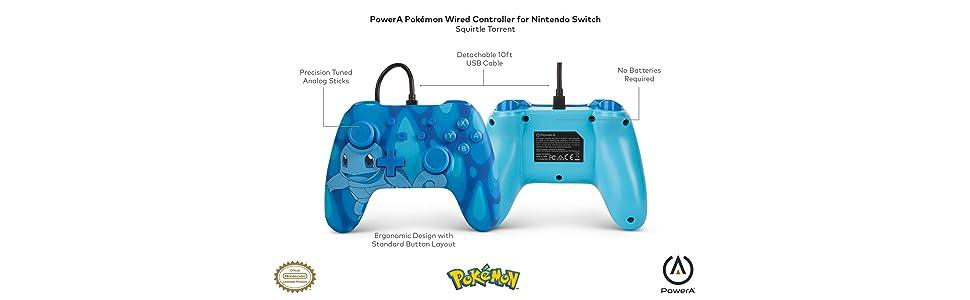 PowerA Mando con cable para Nintendo Switch: Pokémon –Torrent ...