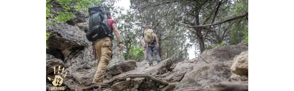 12 survivors hiking knife knives blade kit folding black satin fixed