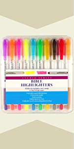 Bible Gel Highlighters (10-piece Set)
