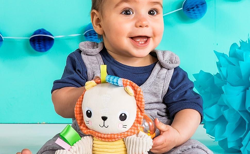 Bright Starts Bunch-O-Fun Plush Activity Toy Lion 3 Months