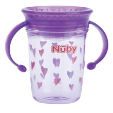 N/ûby Taza m/ágica de tritan con asas 360 240 ml color purpura