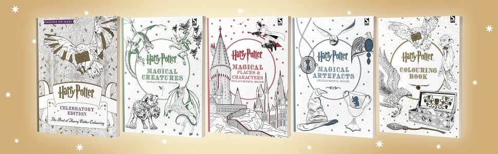 Harry Potter Colouring Book Celebratory Edition The Best Of Harry Potter Colouring Amazon Co Uk Brothers Warner Books
