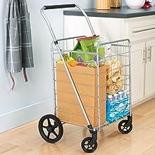 Whitmor Storage Organization Carts trolley shopping Utility