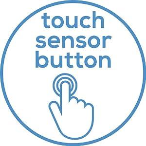 Mit Sensor-Touch Tasten ausgestattet