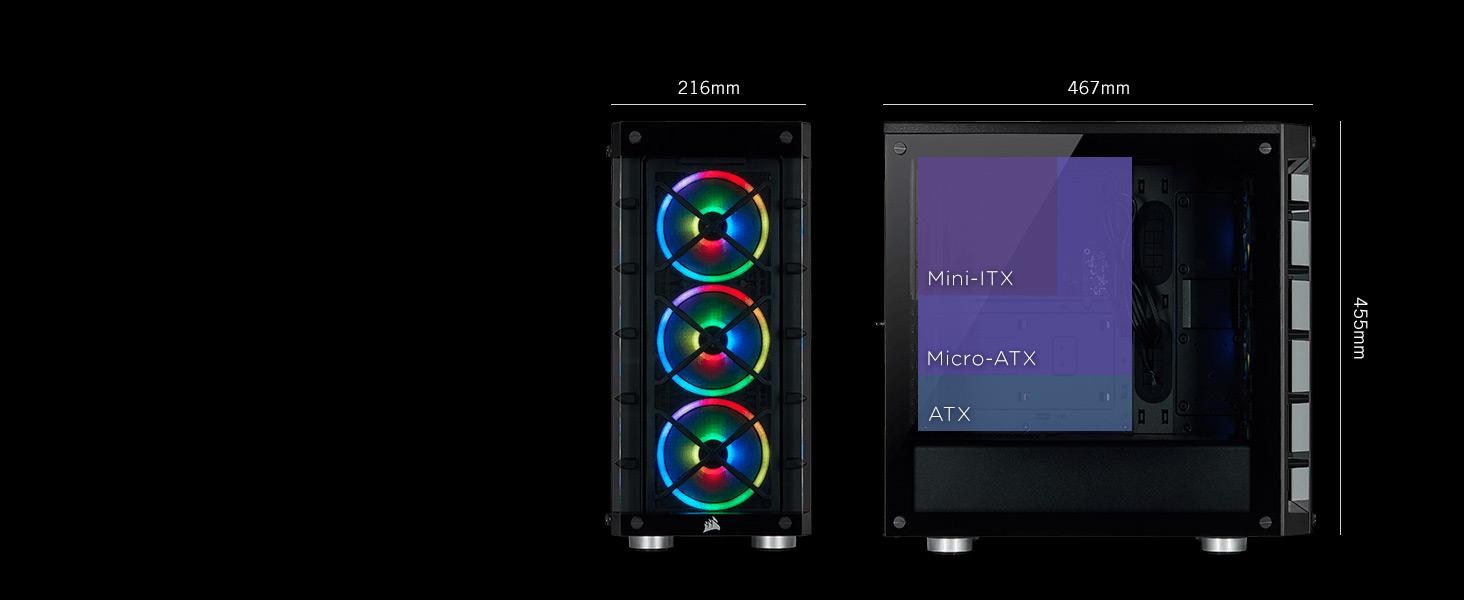 iCUE 465X RGB Mid-Tower ATX Smart Case